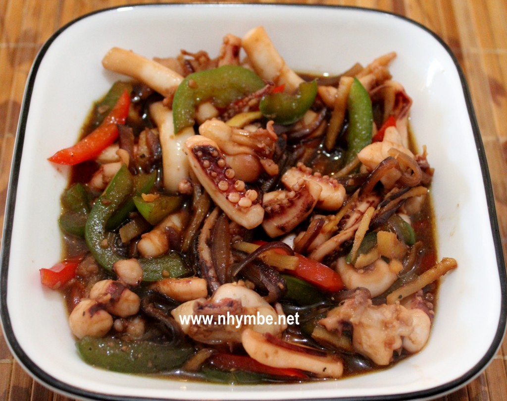 stir-fried pusit