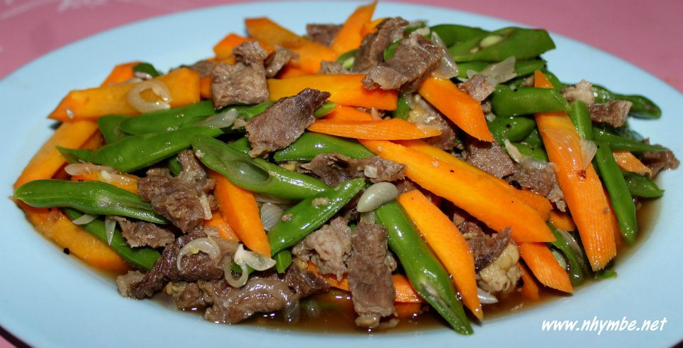 stir fried vegetables with beef