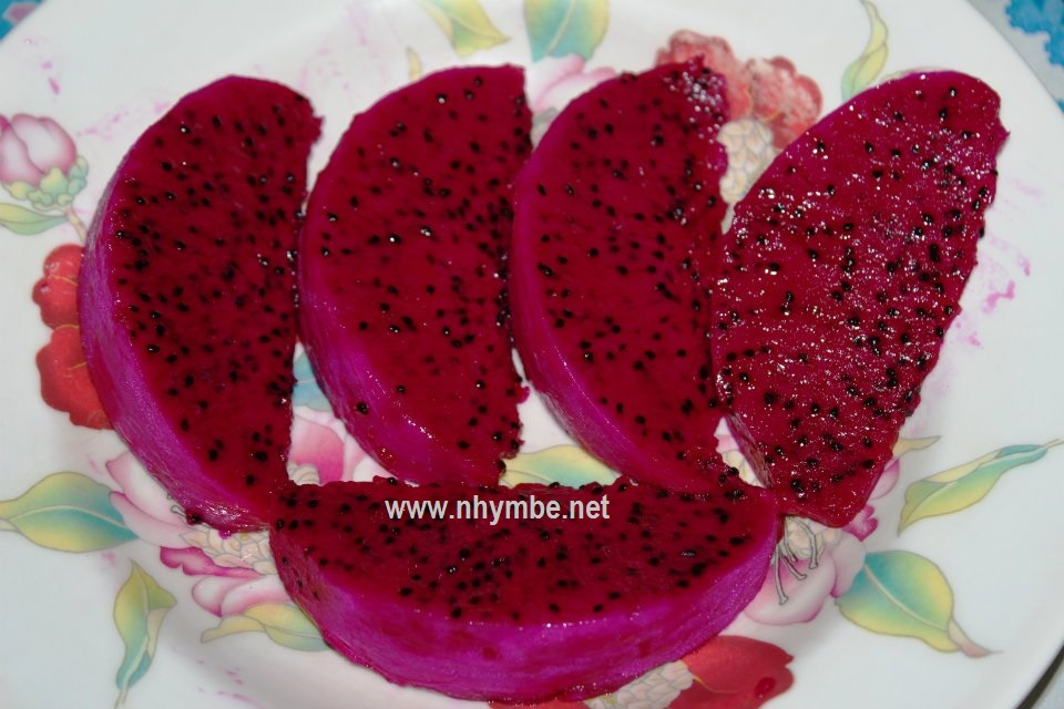dragon fruit slice