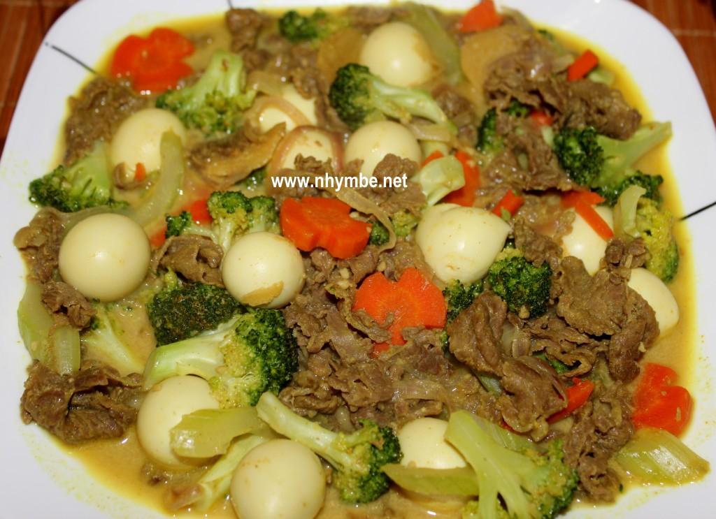 Beef Broccoli Curry With Quail Eggs Nhymbe Net